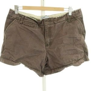 Old Navy 14 Shorts Khaki Brown Camp Hiking 100% Co